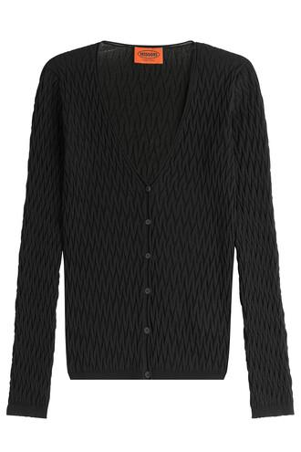 cardigan knit crochet black sweater