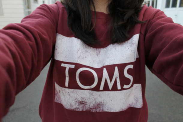 sweater toms women knitwear toms burgundy sweater weather red sweater