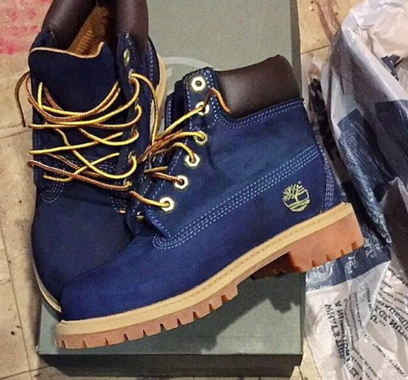 shoes blue blue shoes style shoess timberlands