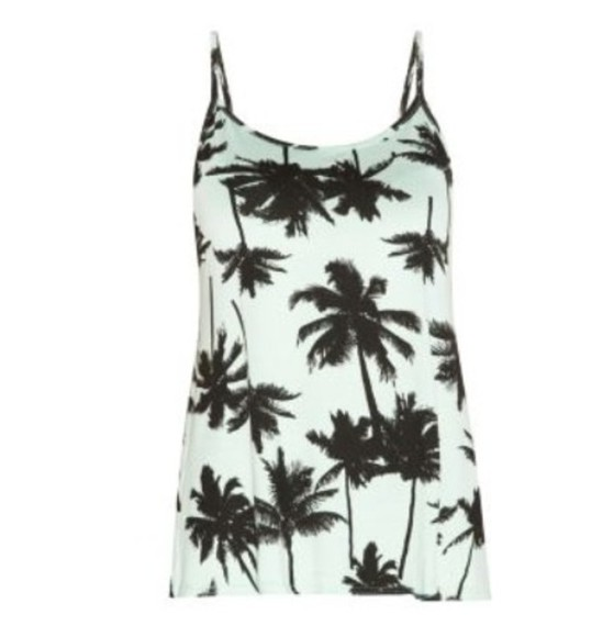 print summer outfits top palm tree print palm tree top
