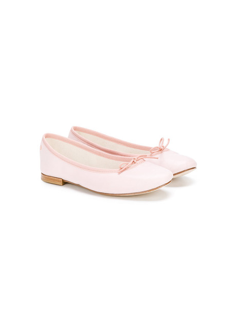 bow classic shoes leather cotton purple pink