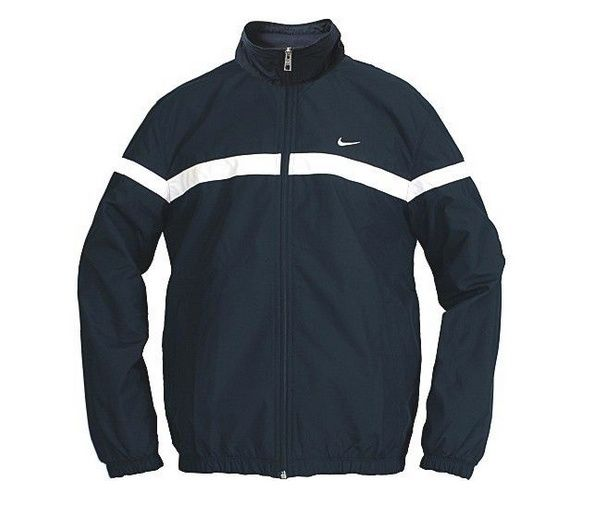 NIKE Men's Classic Woven Jacket Full Zip Black size M $58