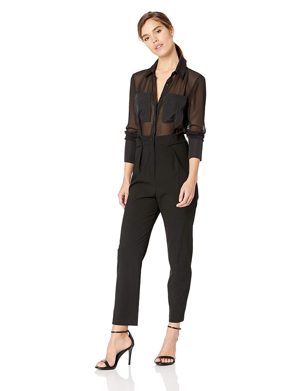 Amazon.com: BCBGMAXAZRIA Women's High Waist Utility Jumpsuit: Clothing