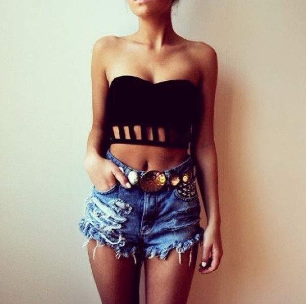 crop tops shorts tank top t-shirt