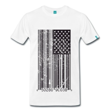Barcode Flag T-Shirt | Spreadshirt | ID: 10408125