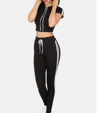 jumpsuit girl girly girly wishlist joggers black white crop crop tops cropped cute trendy tumblr matching set joggers pants