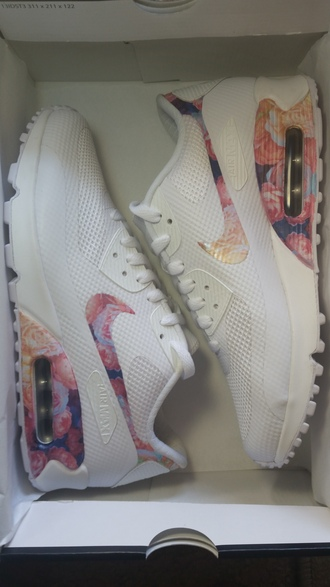 air max white nike nike running shoes custom shoes air max 90 hyperfuse floral shoes nike air max 2014 roses etsy bag blouse shorts sunglasses sneakers air max 90 top dress clubwear urban clothing flowers pink purple tennis shoes sneakerhead high heels hyperfuse nike hyperfuse floral air max 1 hair accessories belt earrings chanel