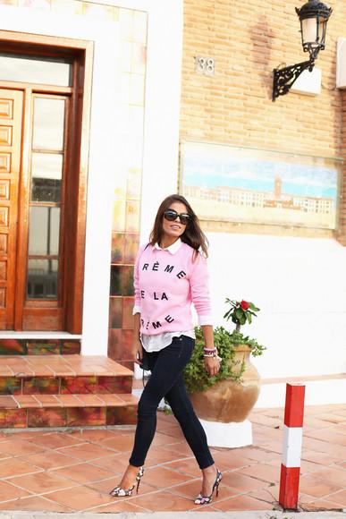 seams for a desire blogger sunglasses pink stilettos
