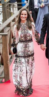 dress,gown,maxi dress,pippa middleton,floral