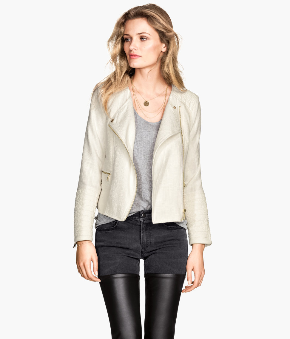 H&M Cotton-blend Biker Jacket $49.95