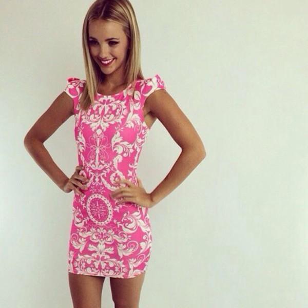 pink dress cute