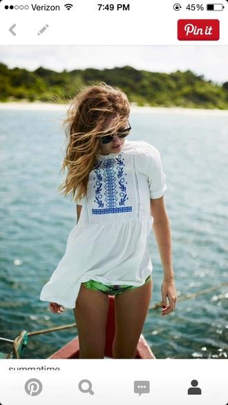 shirt flowy blouse beach top