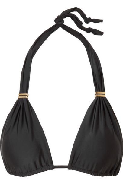 Vix bikini bikini top triangle bikini triangle black swimwear