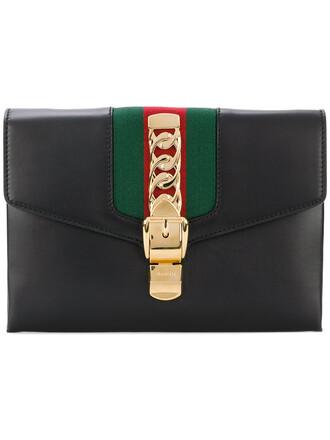 maxi women clutch leather black bag