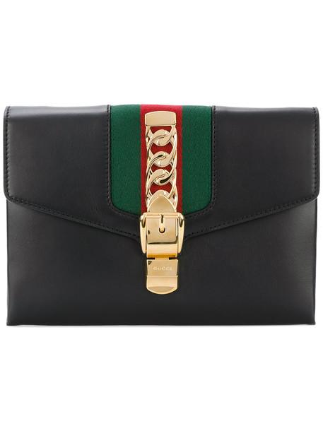gucci maxi women clutch leather black bag