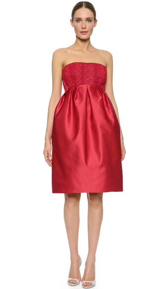 dress strapless dress strapless red
