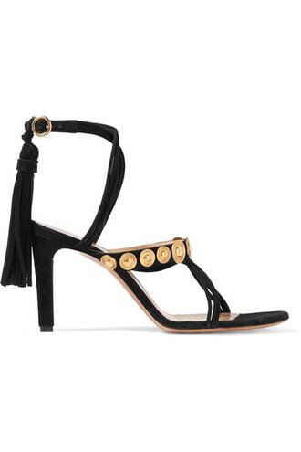 embellished sandals suede black shoes