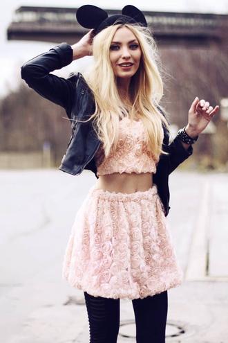 skirt floral pink girl flowers pattern tank top