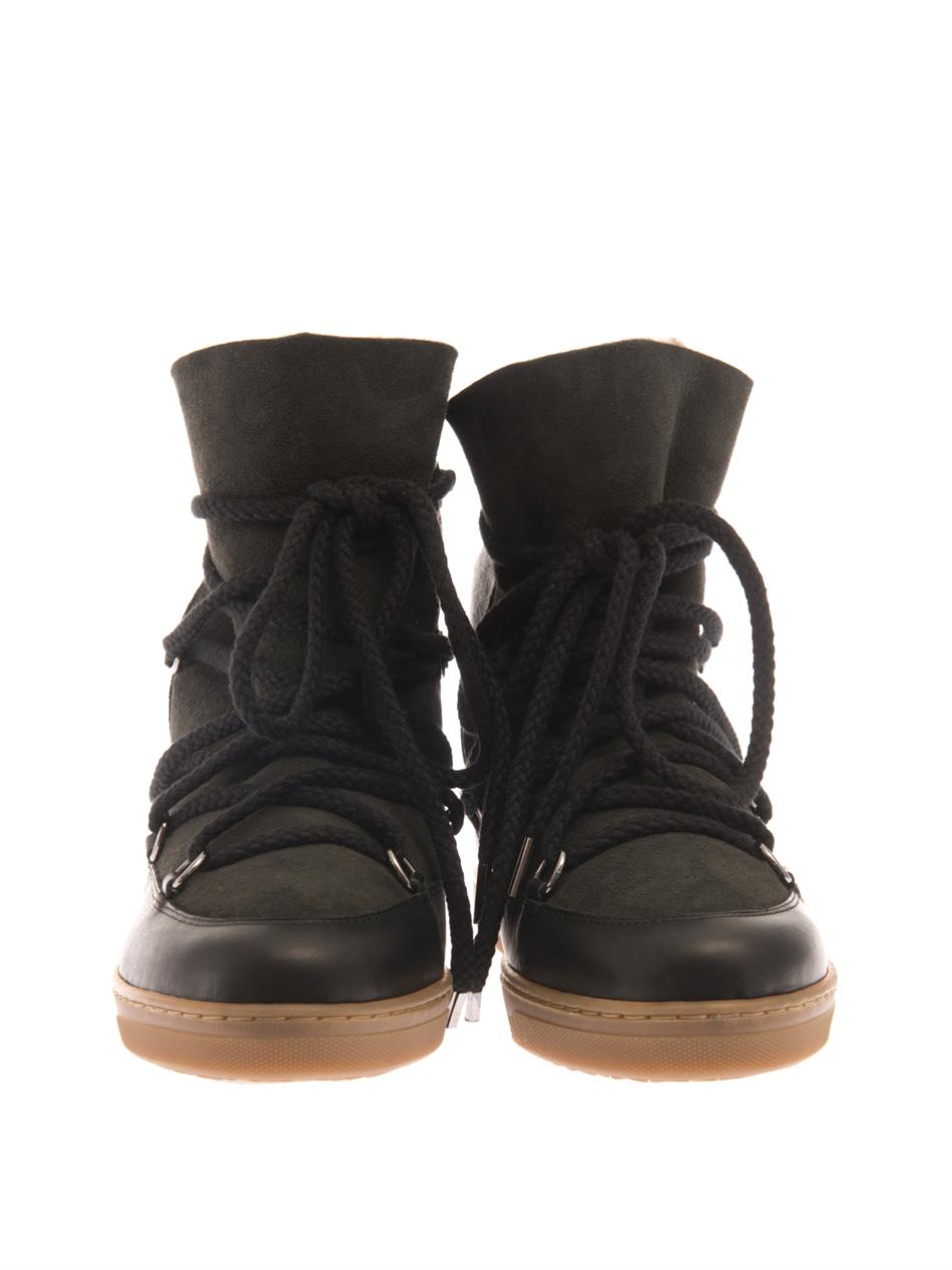 nowles leather wedge snow boots marant