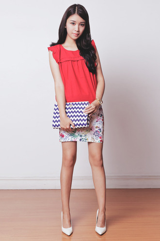 tricia gosingtian top skirt bag shoes