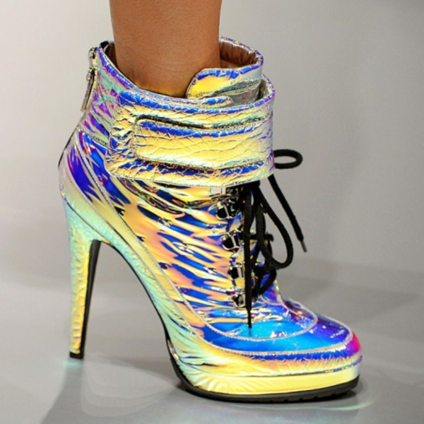 shoes clothes holographic high heels jewels pumps fashion