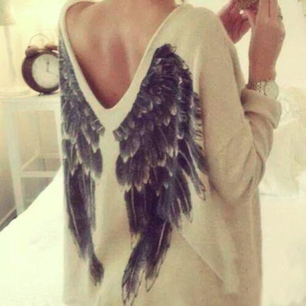Fashion back wings t