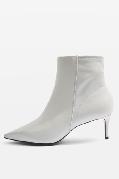 Topshop magic ankle boots white shoes