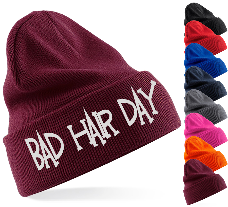 bAd hAir dAy beanie hat