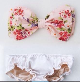 swimwear floral swimwear strapless bikini top