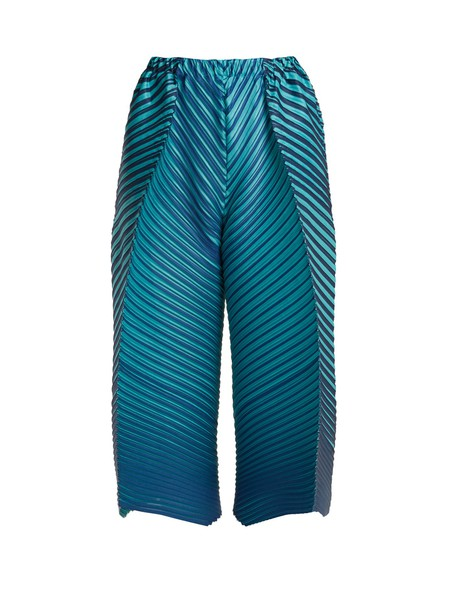PLEATS PLEASE ISSEY MIYAKE culottes pleated blue pants