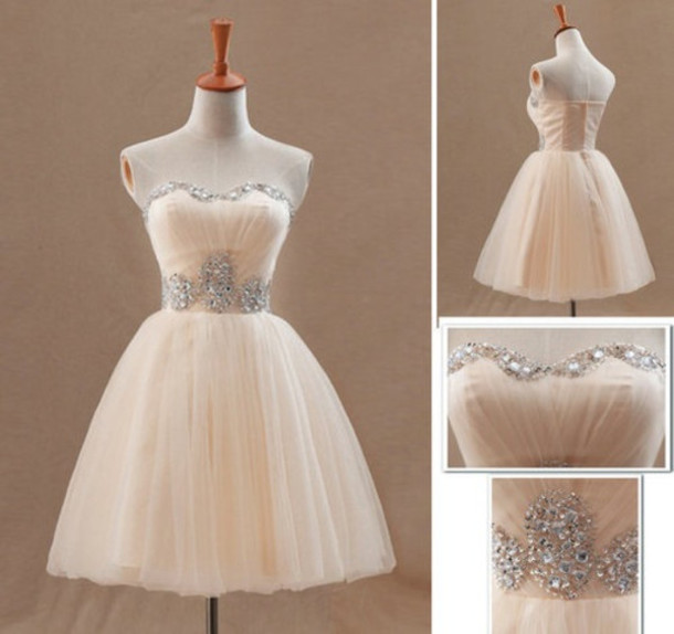 dress white dress white prom dress prom dress formal event outfit glitter dress