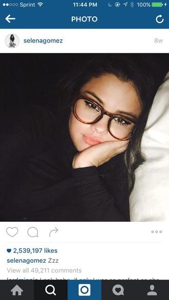 stylish round selena gomez glasses cute