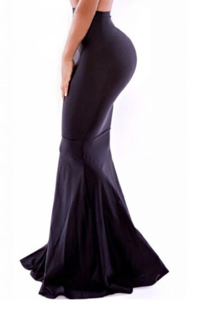 skirt black skirt bodycon skirt fishtail skirt long skirt
