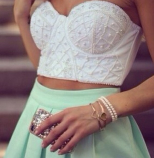 shirt skirt jewels