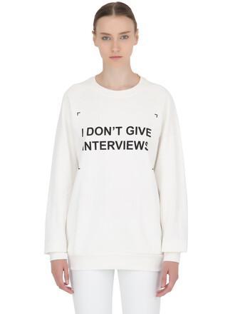 sweatshirt cotton white sweater
