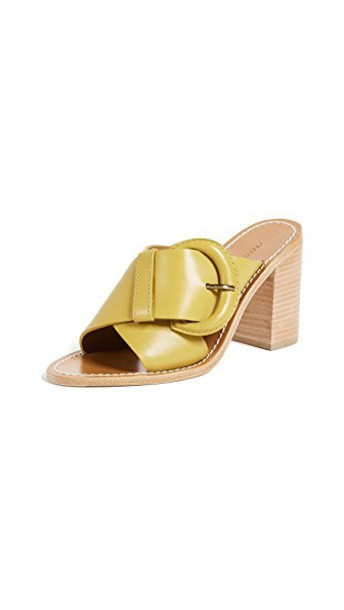 Zimmermann mules mustard shoes