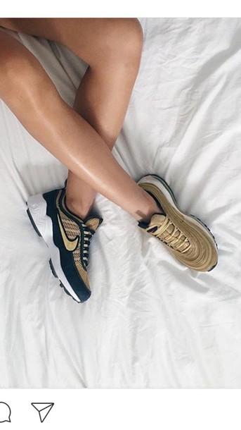 shoes, nike, nike air, sneakers, green