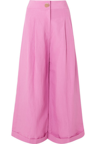 Rejina Pyo pants wide-leg pants pink