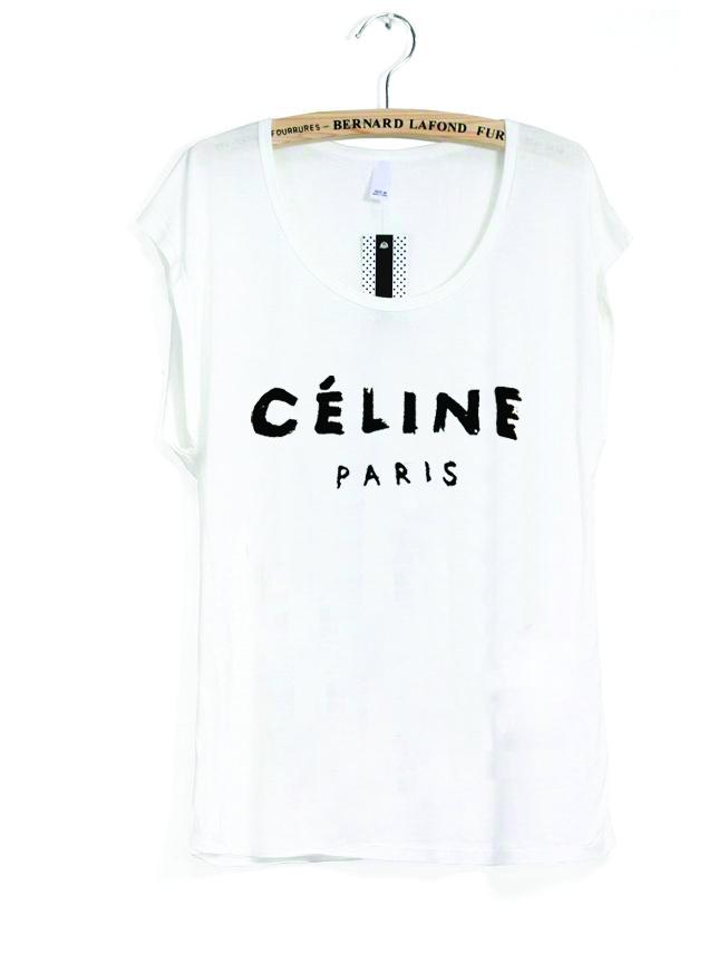 White Short Sleeve Top - celine the women's tee | UsTrendy