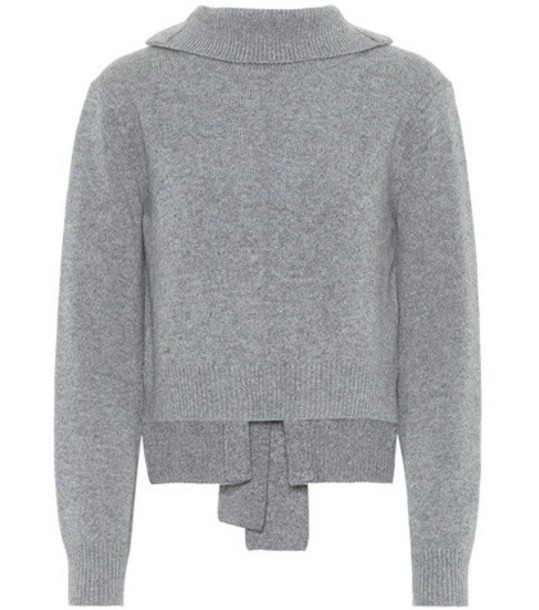 sweater wool grey