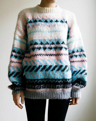 sweater aztec winter outfits clothes i saw this on tumblr and i would like to know which brand is it winter sweater tumblr cute knitted sweater white pink blue black grey pattern design triangles celebrity blogger series movies brands