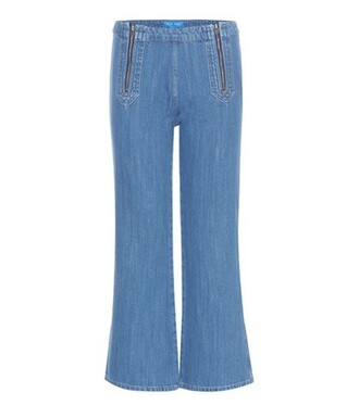 jeans cropped jeans cropped arrow blue