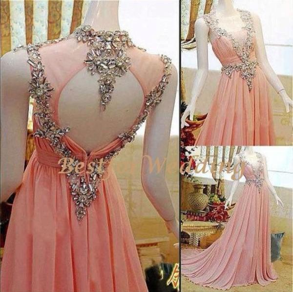 dress formal dress formal prom dress long prom dress long dress pink dress diamonds gown pink gown