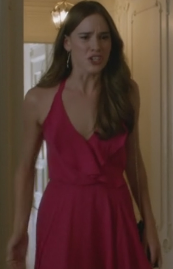 revenge red maxi dress christa b. allen
