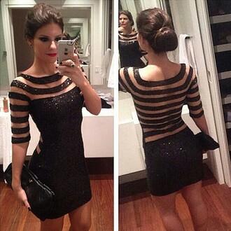dress striped dress sexy dress black mini dress party outfits party dress evening dress vestidos de noiva 2014 2015 prom dress new girl women dress