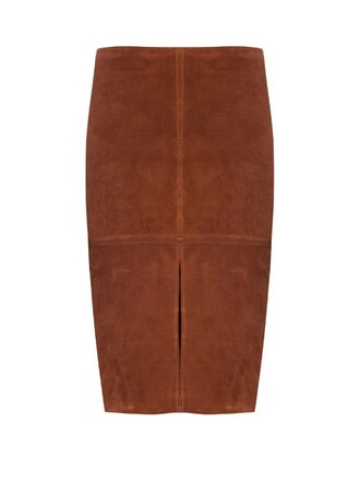 skirt suede skirt suede brown