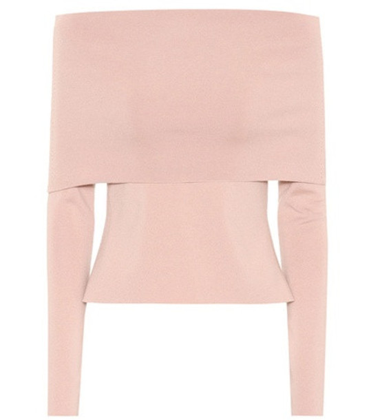 Agnona Wool-blend sweater in pink