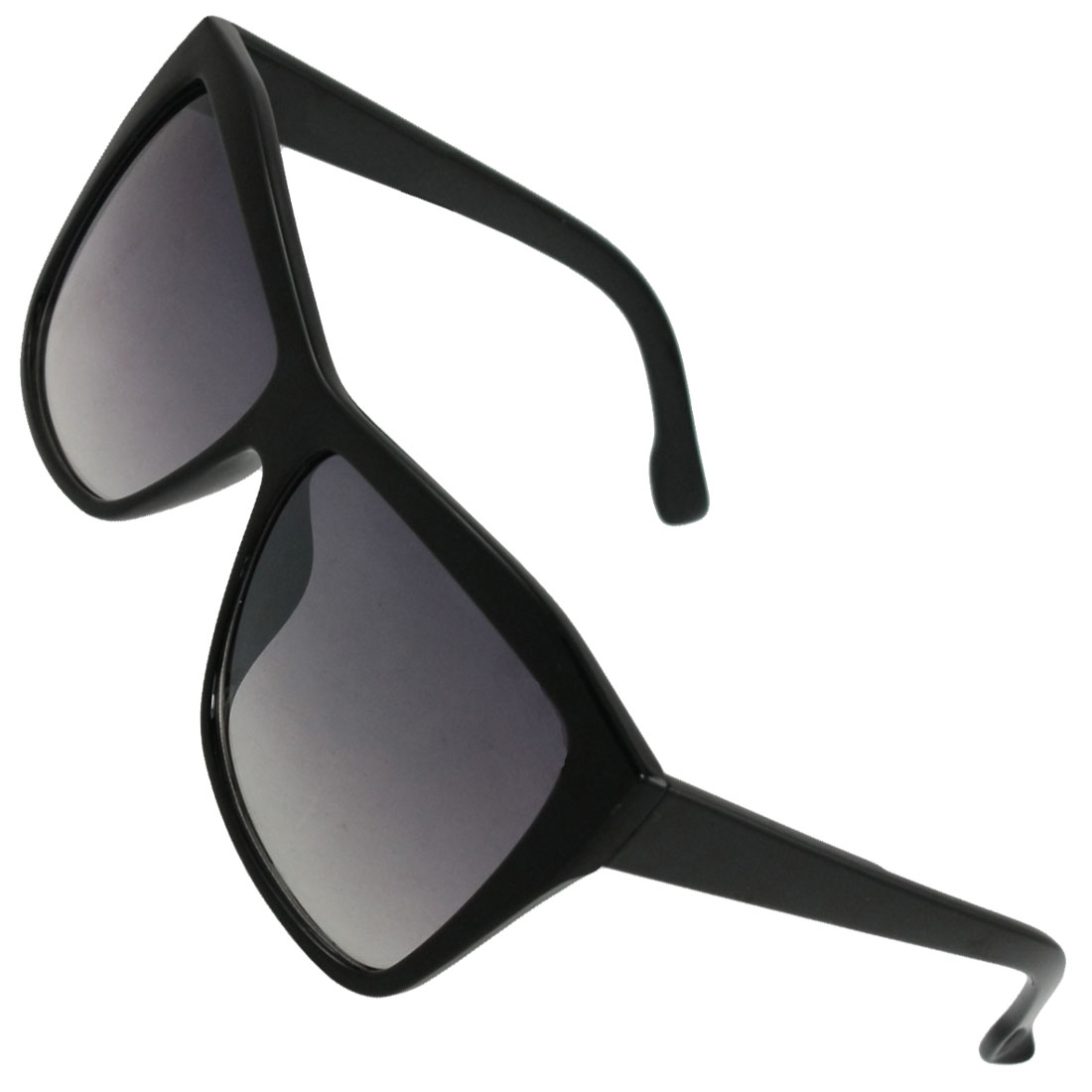 Women black plastic frame full rims square lens sunglasses