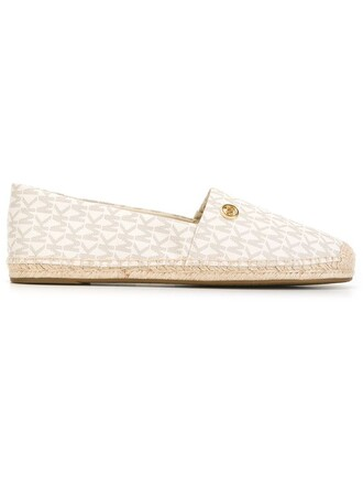 women espadrilles leather nude print shoes