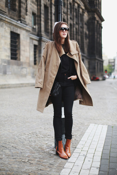 style scrapbook blogger bag sunglasses jeans jacket boots fall outfits